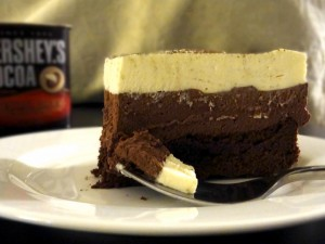Cake with cocoa