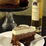 Cake and ice wine